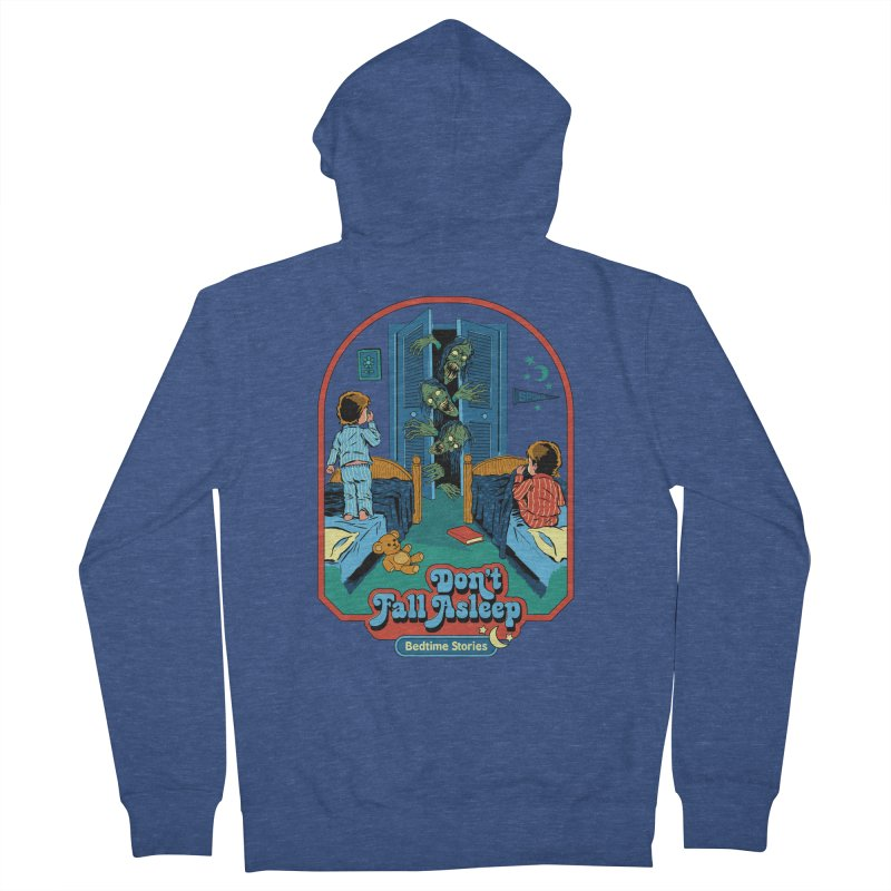 Don't Fall Asleep Men's French Terry Zip-Up Hoody by Steven Rhodes