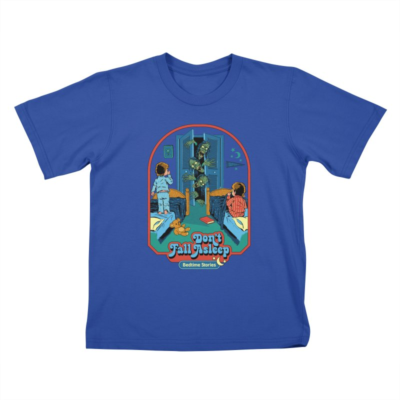 Don't Fall Asleep Kids T-Shirt by Steven Rhodes