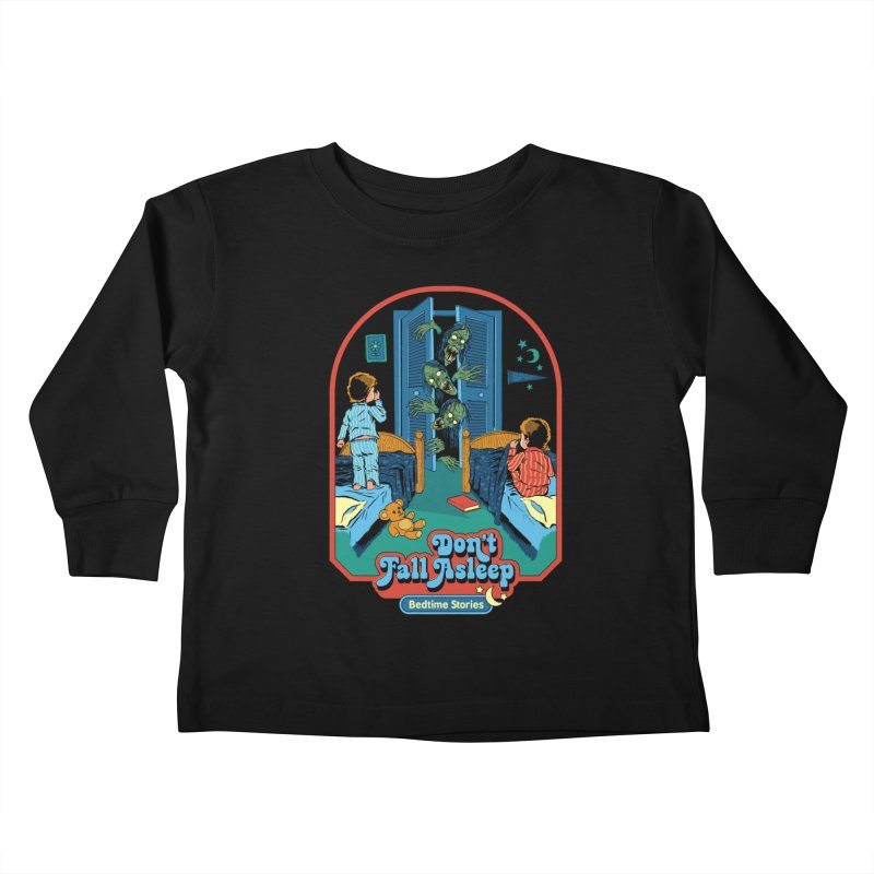 Don't Fall Asleep Kids Toddler Longsleeve T-Shirt by Steven Rhodes