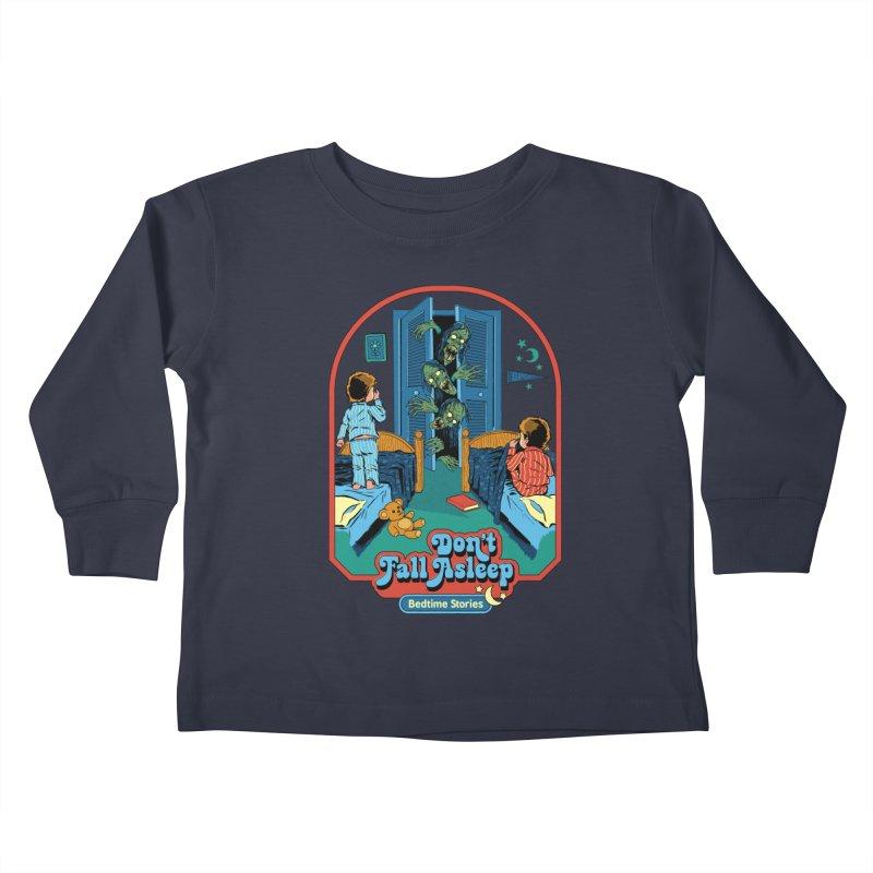 Don't Fall Asleep Kids Toddler Longsleeve T-Shirt by Steven Rhodes