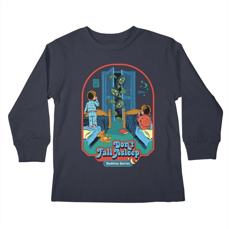 Don't Fall Asleep Kids Longsleeve T-Shirt by Steven Rhodes