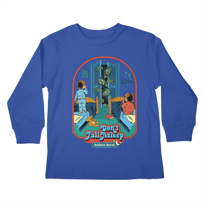 Don't Fall Asleep Kids Longsleeve T-Shirt by Steven Rhodes