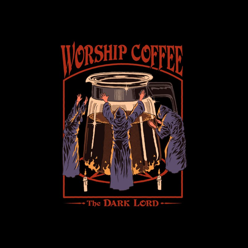 Worship Coffee Home Throw Pillow by Steven Rhodes