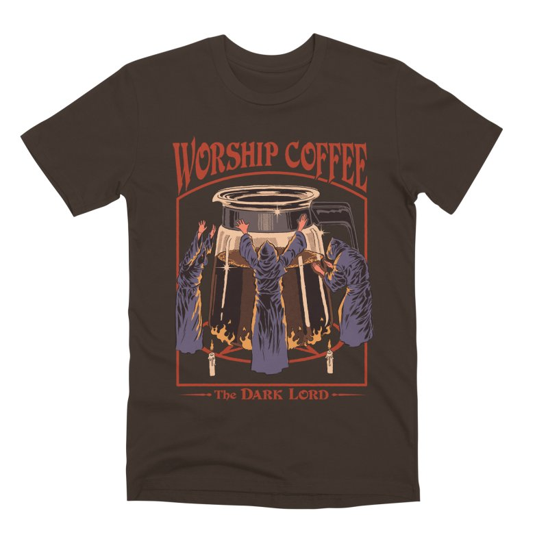Worship Coffee Men's Premium T-Shirt by Steven Rhodes