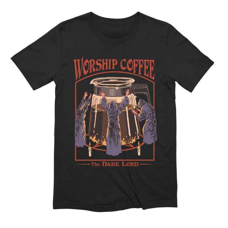 Worship Coffee Men's Extra Soft T-Shirt by Steven Rhodes
