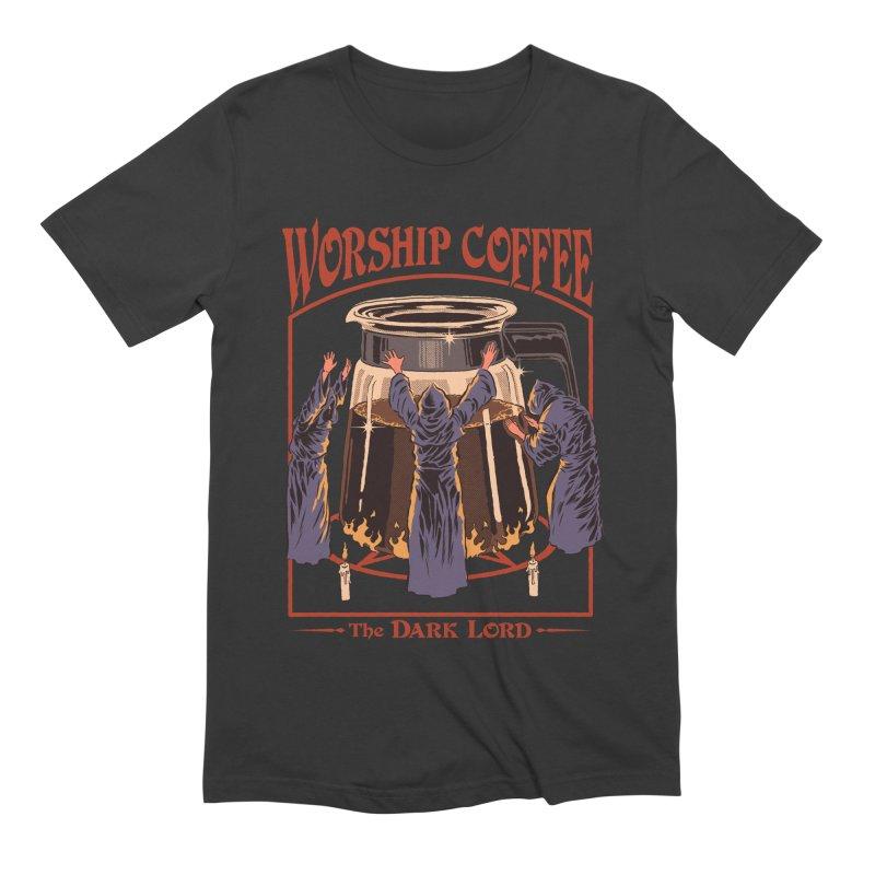 Worship Coffee Men's T-Shirt by Steven Rhodes