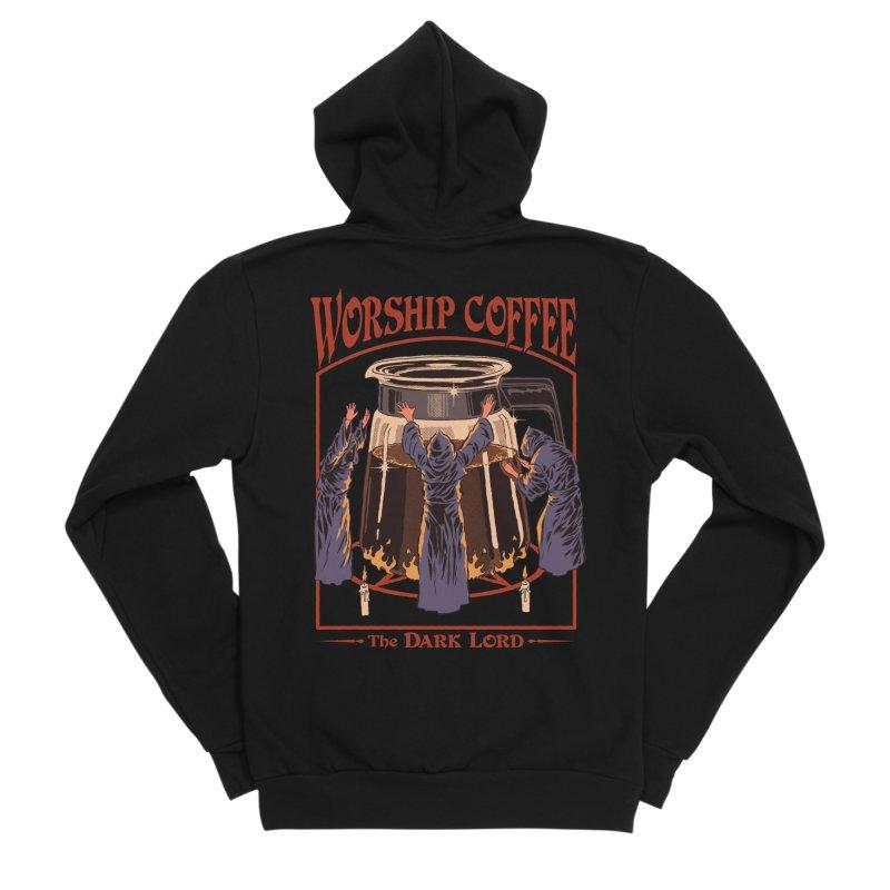 Worship Coffee Men's Sponge Fleece Zip-Up Hoody by Steven Rhodes