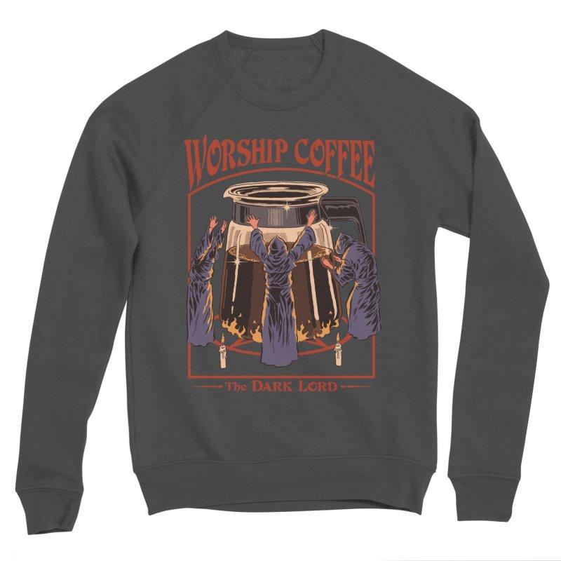 Worship Coffee Men's Sponge Fleece Sweatshirt by Steven Rhodes