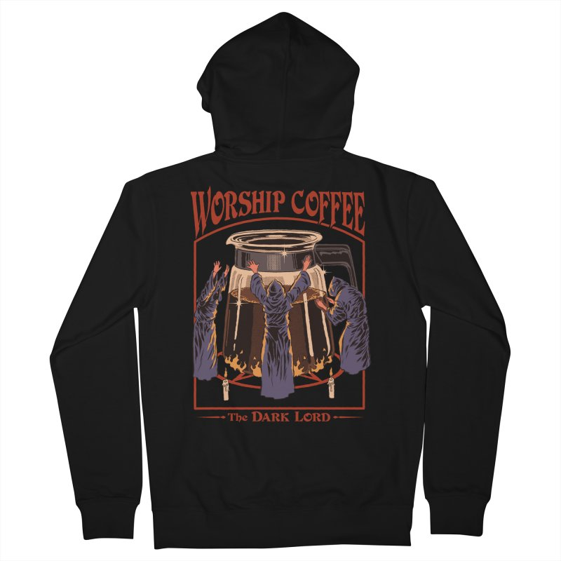 Worship Coffee Women's French Terry Zip-Up Hoody by Steven Rhodes