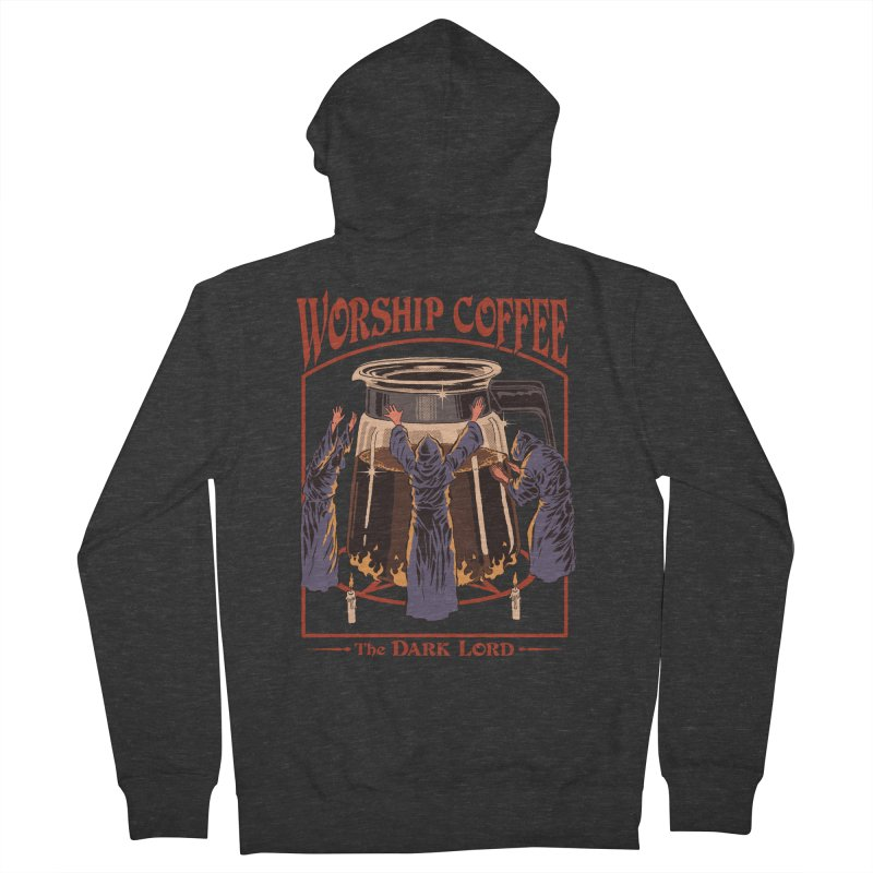 Worship Coffee Men's Zip-Up Hoody by Steven Rhodes