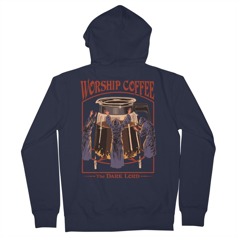 Worship Coffee Men's French Terry Zip-Up Hoody by Steven Rhodes