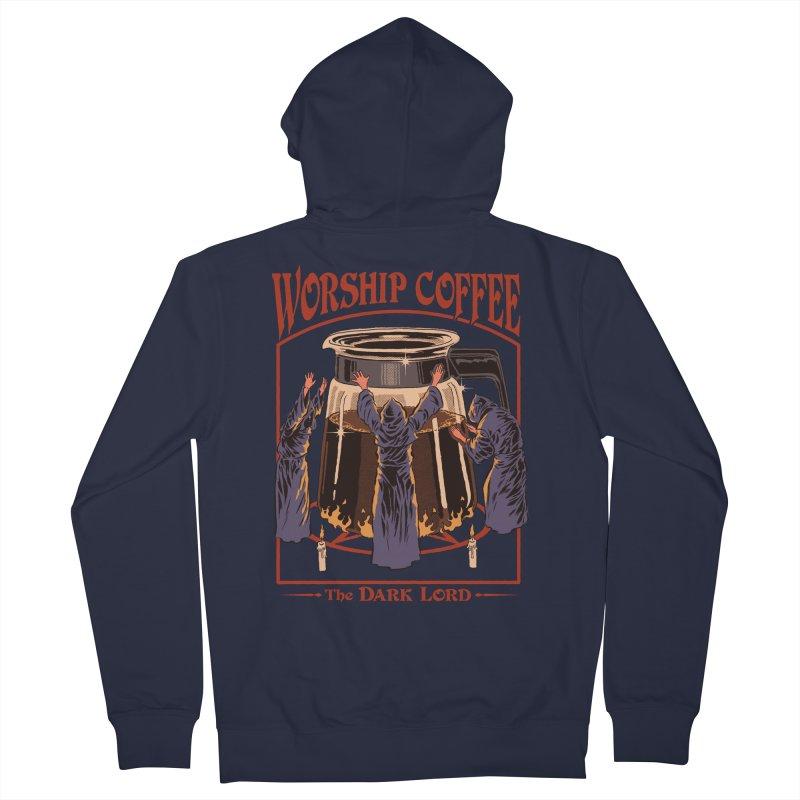 Worship Coffee Men's Zip-Up Hoody by Steven Rhodes