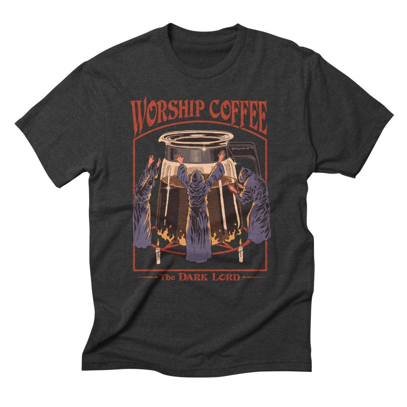 Worship Coffee Men's Triblend T-Shirt by Steven Rhodes
