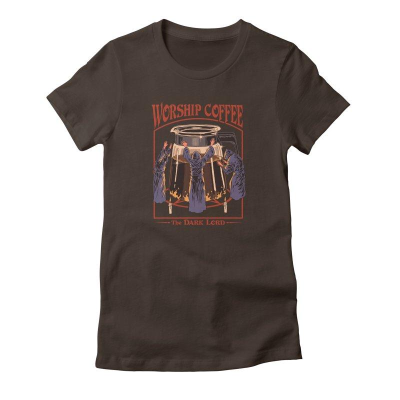 Worship Coffee Women's T-Shirt by Steven Rhodes