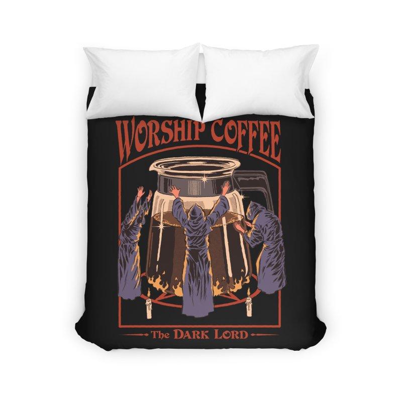 Worship Coffee Home Duvet by Steven Rhodes