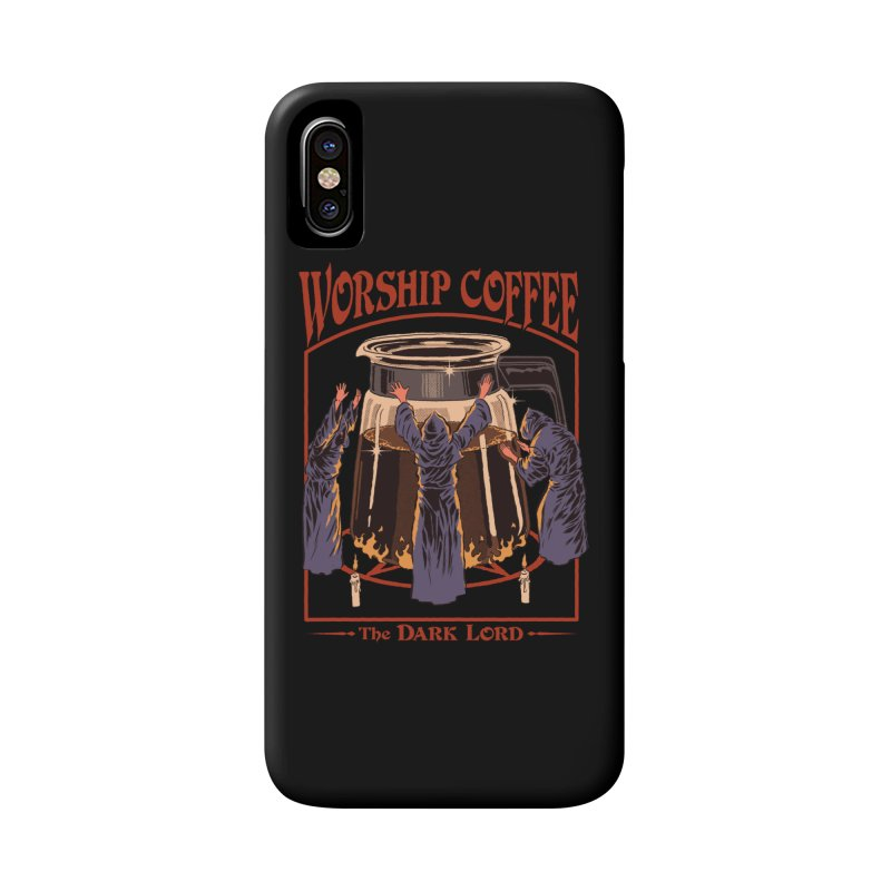 Worship Coffee Accessories Phone Case by Steven Rhodes