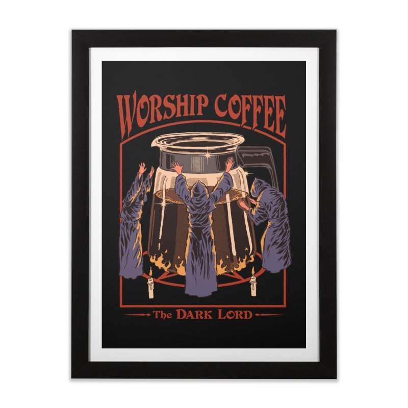 Worship Coffee Home Framed Fine Art Print by Steven Rhodes