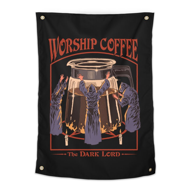 Worship Coffee Home Tapestry by Steven Rhodes