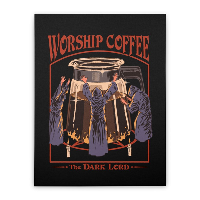 Worship Coffee Home Stretched Canvas by Steven Rhodes