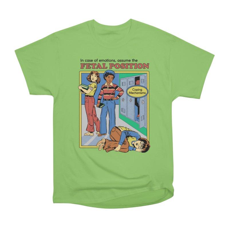 Assume the Fetal Position Women's Heavyweight Unisex T-Shirt by Steven Rhodes