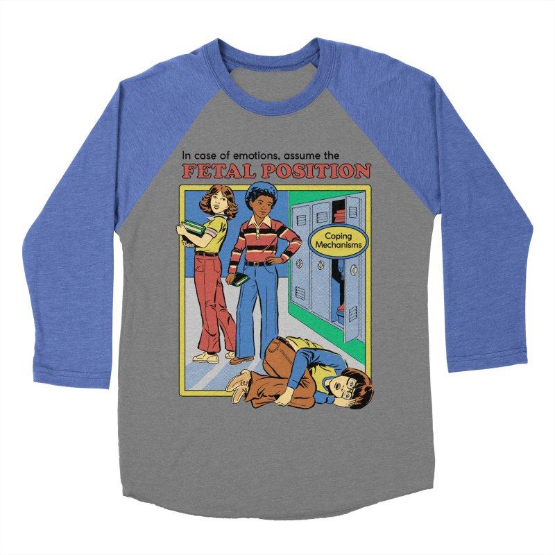 Assume the Fetal Position Women's Baseball Triblend Longsleeve T-Shirt by Steven Rhodes