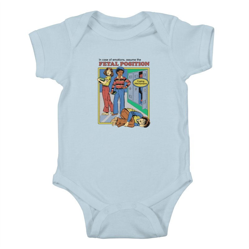 Assume the Fetal Position Kids Baby Bodysuit by Steven Rhodes