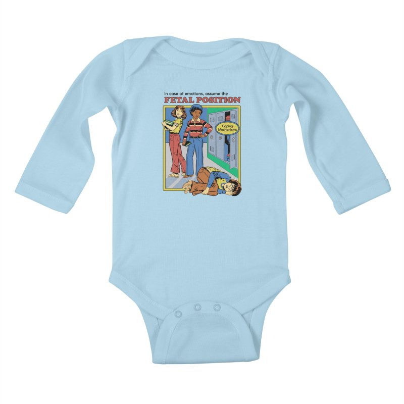 Assume the Fetal Position Kids Baby Longsleeve Bodysuit by Steven Rhodes