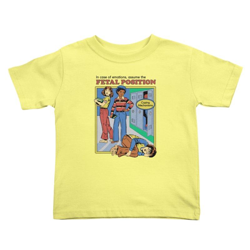 Assume the Fetal Position Kids Toddler T-Shirt by Steven Rhodes