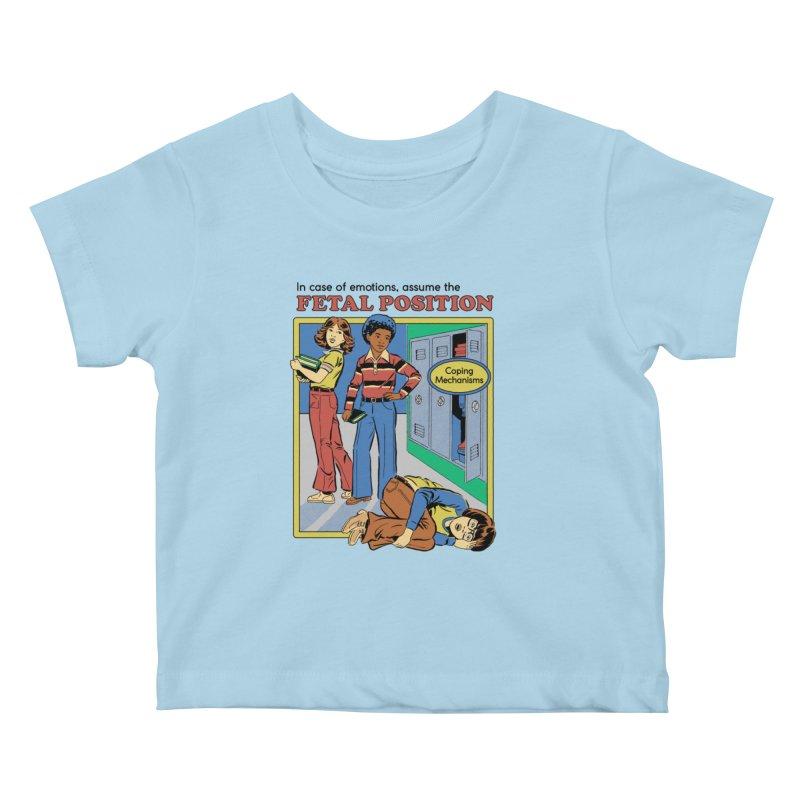 Assume the Fetal Position Kids Baby T-Shirt by Steven Rhodes