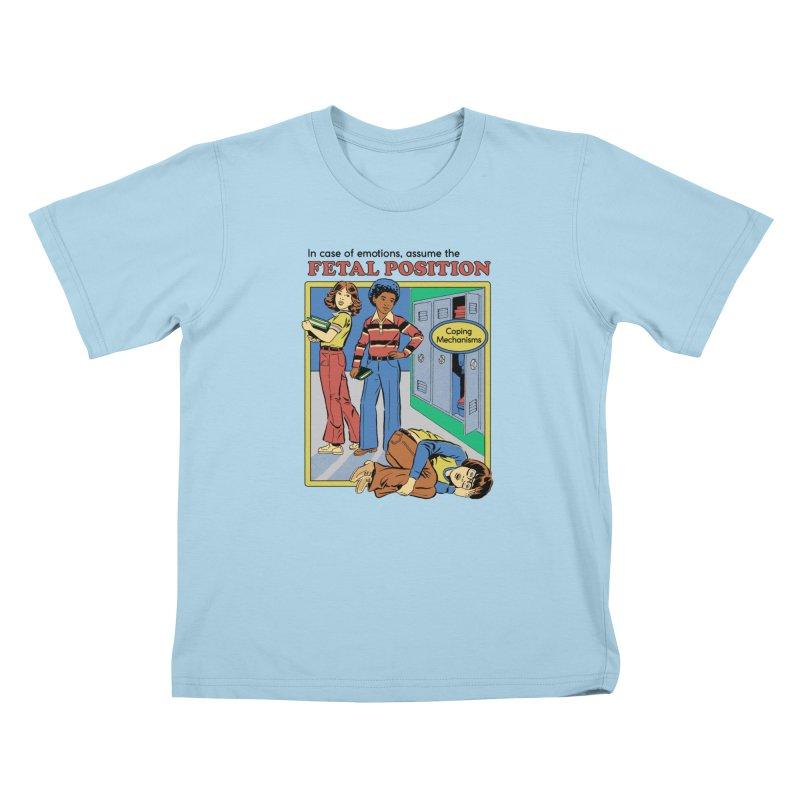 Assume the Fetal Position Kids T-Shirt by Steven Rhodes