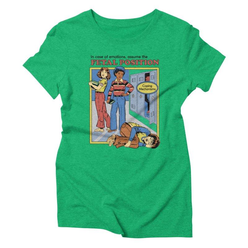 Assume the Fetal Position Women's Triblend T-Shirt by Steven Rhodes