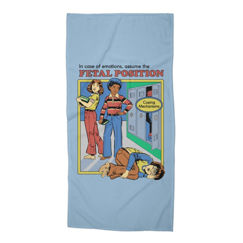 Assume the Fetal Position Accessories Beach Towel by Steven Rhodes