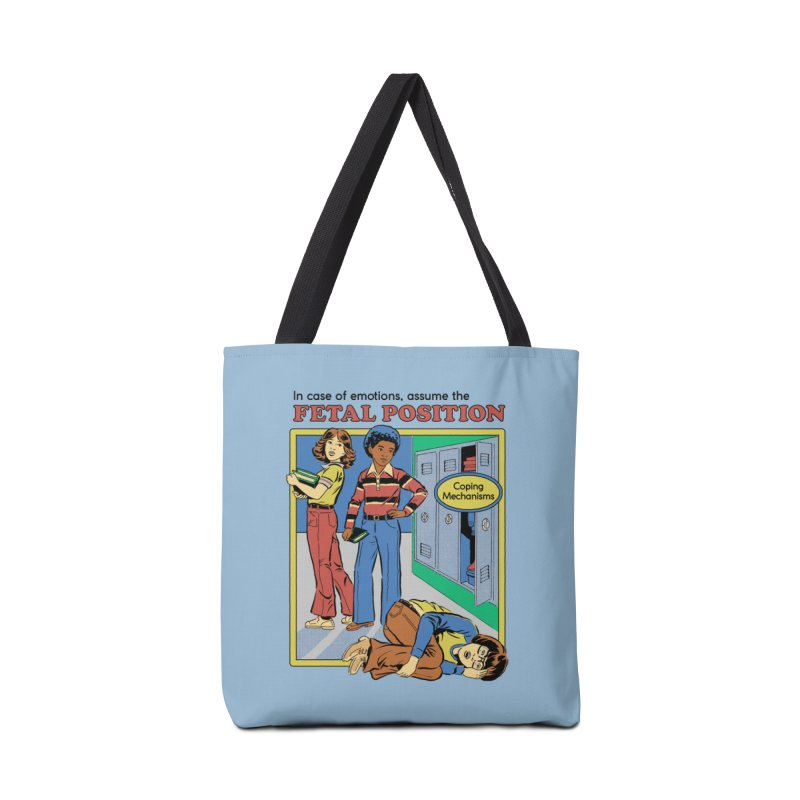 Assume the Fetal Position Accessories Tote Bag Bag by Steven Rhodes