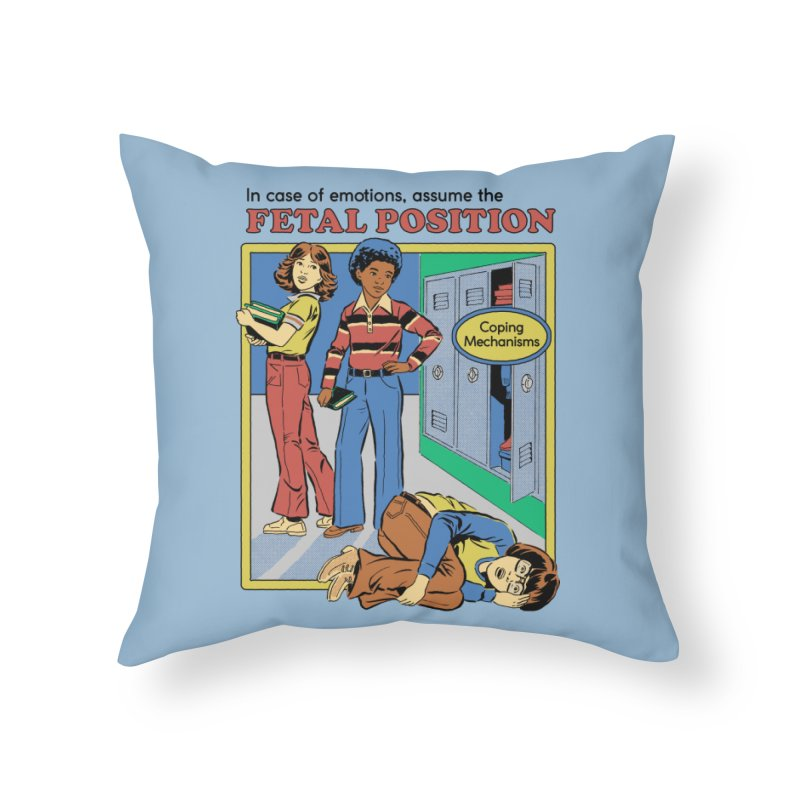 Assume the Fetal Position Home Throw Pillow by Steven Rhodes