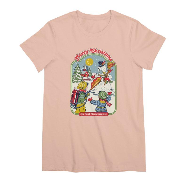 My First Flamethrower Women's Premium T-Shirt by Steven Rhodes