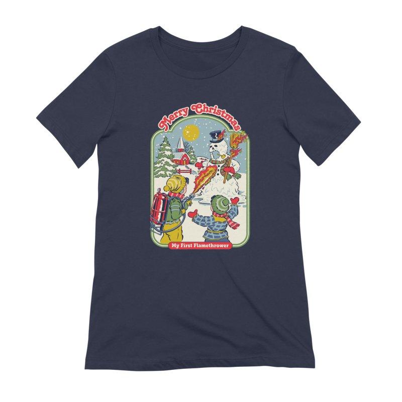 My First Flamethrower Women's Extra Soft T-Shirt by Steven Rhodes