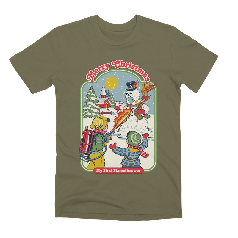 My First Flamethrower Men's Premium T-Shirt by Steven Rhodes