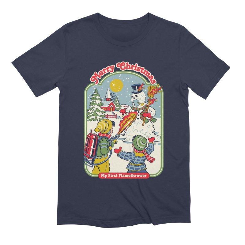 My First Flamethrower Men's Extra Soft T-Shirt by Steven Rhodes