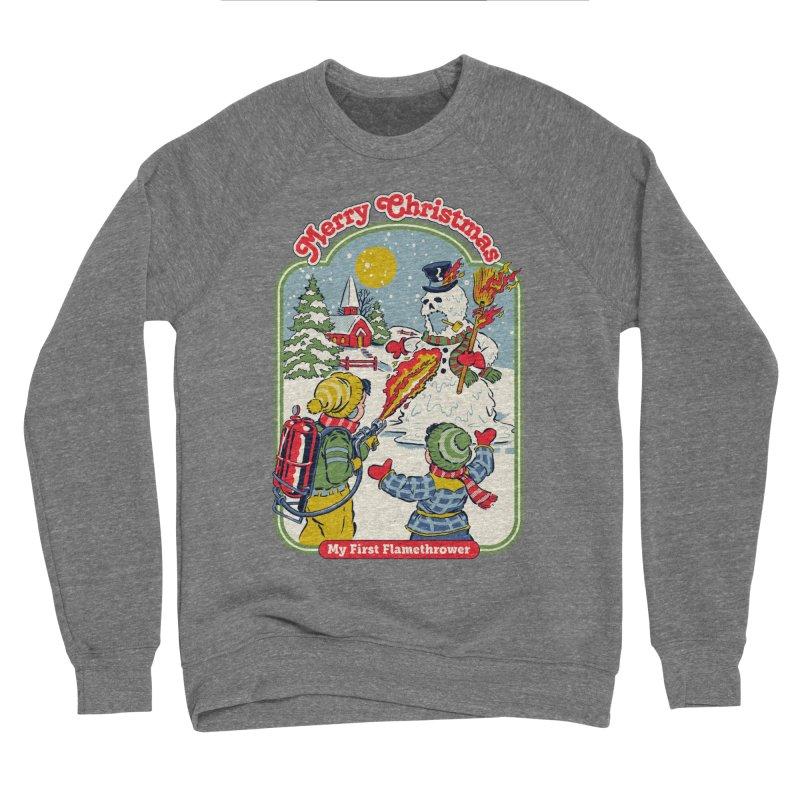 My First Flamethrower Women's Sponge Fleece Sweatshirt by Steven Rhodes