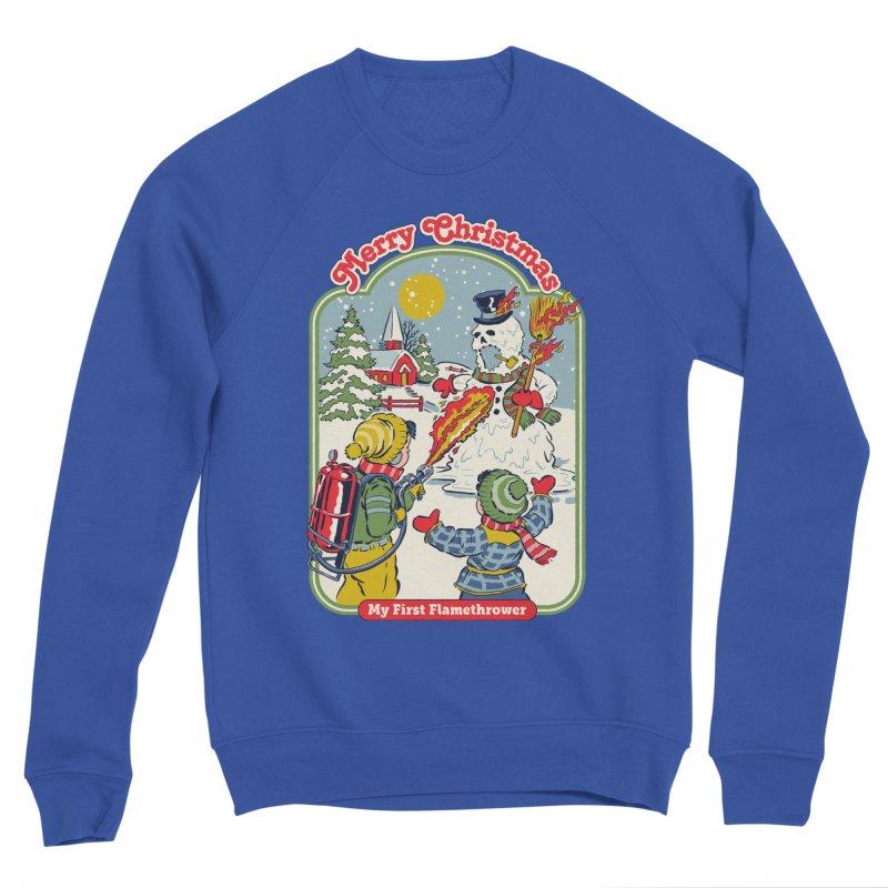 My First Flamethrower Men's Sponge Fleece Sweatshirt by Steven Rhodes