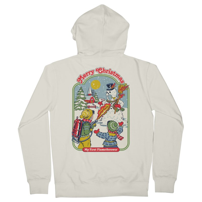 My First Flamethrower Women's French Terry Zip-Up Hoody by Steven Rhodes