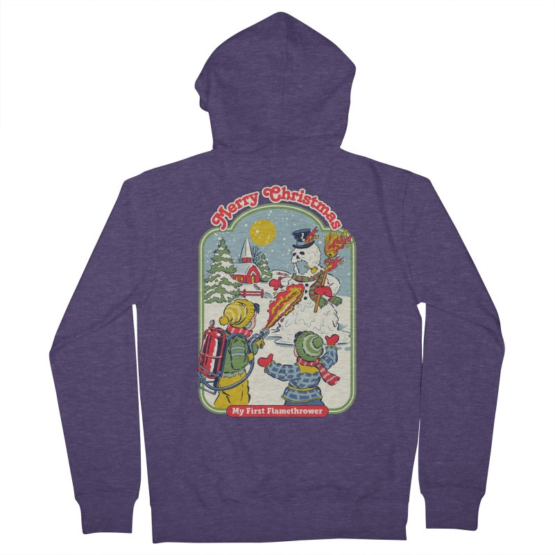 My First Flamethrower Men's French Terry Zip-Up Hoody by Steven Rhodes
