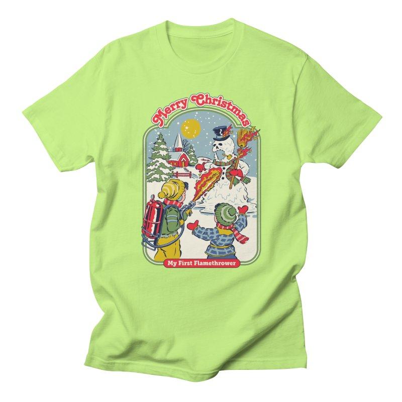My First Flamethrower Men's Regular T-Shirt by Steven Rhodes