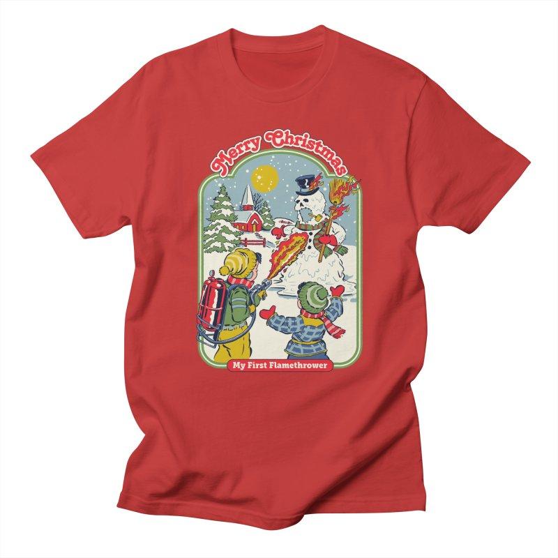 My First Flamethrower Women's Regular Unisex T-Shirt by Steven Rhodes