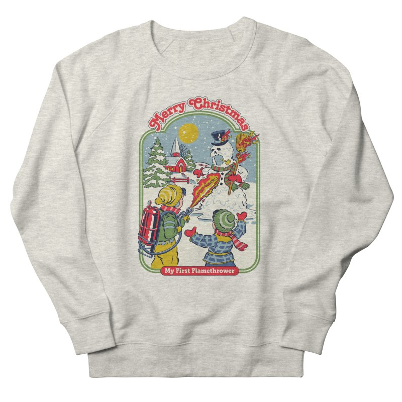 My First Flamethrower Women's French Terry Sweatshirt by Steven Rhodes