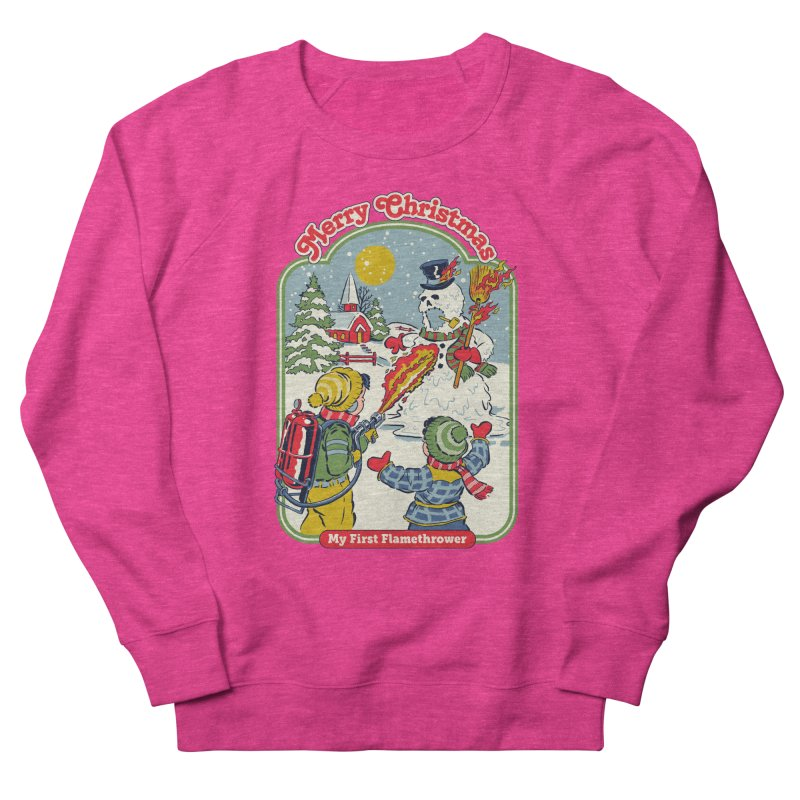 My First Flamethrower Men's French Terry Sweatshirt by Steven Rhodes
