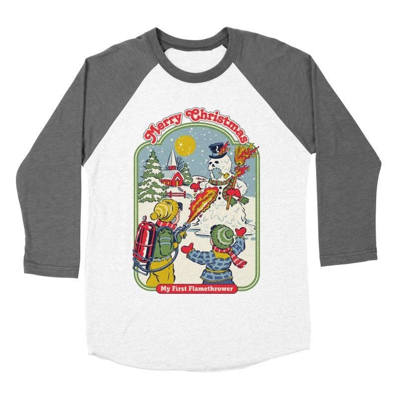 My First Flamethrower Women's Baseball Triblend Longsleeve T-Shirt by Steven Rhodes