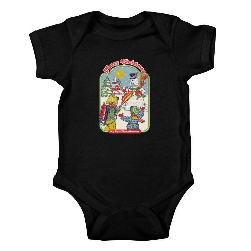 My First Flamethrower Kids Baby Bodysuit by Steven Rhodes