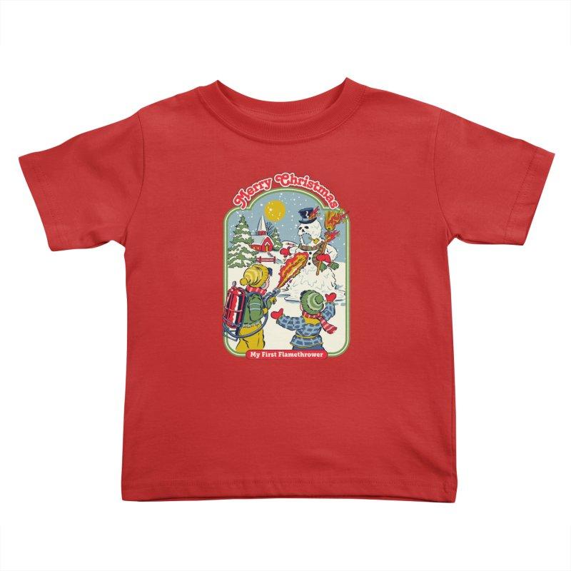 My First Flamethrower Kids Toddler T-Shirt by Steven Rhodes