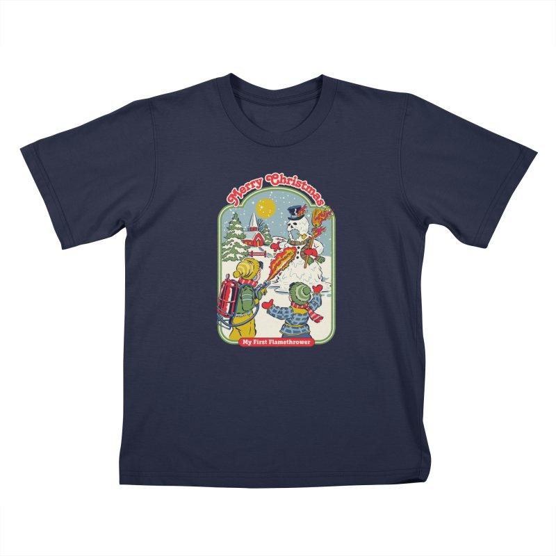 My First Flamethrower Kids T-Shirt by Steven Rhodes